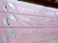 Baby Shower banner personalised - Pink